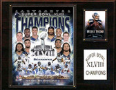 "NFL 12""x15"" Seattle Seahawks Super Bowl XLVIII Champions Plaque"