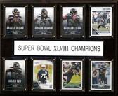 "NFL 12""x15"" Seattle Seahawks Super Bowl XLVIII 8-Card Plaque"