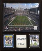 """NFL 12""""x15"""" Soldier Field Stadium Plaque"""
