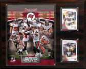 """NFL 12""""x15"""" Tampa Bay Buccaneers 2012 Team Plaque"""