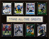 "NFL 12""x15"" Tennessee Titans All-Time Greats Plaque"