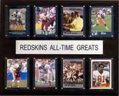 "NFL 12""x15"" Washington Redskins All-Time Greats Plaque"