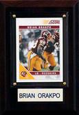 "NFL 4""x6"" Brian Orakpo Washington Redskins Player Plaque"