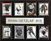 """NHL 12""""x15"""" Ryan Getzlaf Anaheim Ducks 8-Card Plaque"""