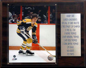 "NHL 12""x15"" Bobby Orr Boston Bruins Career Stat Plaque"
