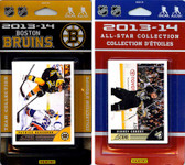 NHL Boston Bruins Licensed 2013-14 Score Team Set and All-Star Set