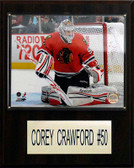 "NHL 12""x15"" Corey Crawford Chicago Blackhawks Player Plaque"