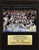 "NHL 12""x15"" Chicago Blackhawks 2010 Stanley Cup Celebration Plaque"