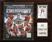"NHL 12""x15"" Chicago Blackhawks 2012-2013 Stanley Cup Champions Plaque"