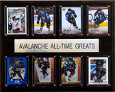 """NHL 12""""x15"""" Colorado Avalanche All-Time Greats Plaque"""