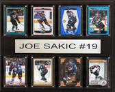 "NHL 12""x15"" Joe Sakic Colorado Avalanche 8-Card Plaque"