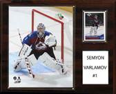 "NHL 12""x15"" Semyon Varlamov Colorado Avalanche Player Plaque"