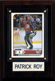 "NHL 4""x6"" Patrick Roy Colorado Avalanche Player Plaque"