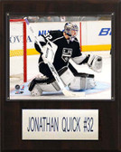 """NHL 12""""x15"""" Jonathan Quick Los Angeles Kings Player Plaque"""
