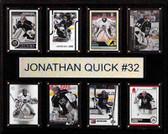 "NHL 12""x15"" Jonathan Quick Los Angeles Kings 8-Card Plaque"