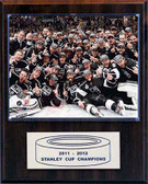 """NHL 12""""x15"""" Los Angeles Kings 2012 Stanley Cup Celebration Plaque"""