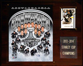 """NHL 12""""x15"""" Los Angeles Kings 2013-2014 Stanley Cup Champions Plaque"""