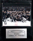 """NHL 12""""x15"""" Los Angeles Kings 2013-2014 Stanley Cup Celebration Plaque"""