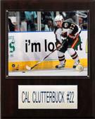 """NHL 12""""x15"""" Cal Clutterbuck Minnesota Wild Player Plaque"""