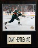 "NHL 12""x15"" Dany Heatley Minnesota Wild Player Plaque"