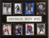"NHL 12""x15"" Patrick Roy Montreal Canadiens 8 Card Plaque"