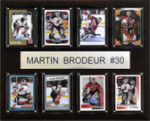 "NHL 12""x15"" Martin Brodeur New Jersey Devils 8 Card Plaque"