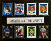 """NHL 12""""x15"""" New York Rangers All-Time Greats Plaque"""