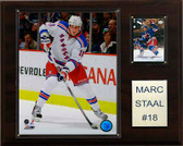 """NHL 12""""x15"""" Marc Staal New York Rangers Player Plaque"""