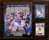 """NHL 12""""x15"""" New York Rangers All-Time Great Photo Plaque"""