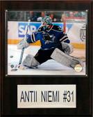 "NHL 12""x15"" Antii Niemi San Jose Sharks Player Plaque"