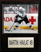 "NHL 12""x15"" Martin Havlat San Jose Sharks Player Plaque"