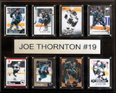 "NHL 12""x15"" Joe Thornton San Jose Sharks 8-Card Plaque"