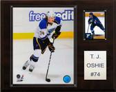 """NHL 12""""x15"""" T.J. Oshie St. Louis Blues Player Plaque"""