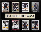"""NHL 12""""x15"""" T.J. Oshie St. Louis Blues 8-Card Plaque"""