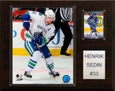 "NHL 12""x15"" Henrik Sedin Vancouver Canucks Player Plaque"