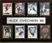 "NHL 12""x15"" Alex Ovechkin Washington Capitals 8 Card Plaque"