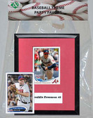 MLB Atlanta Braves Party Favor With 6x7 Mat and Frame