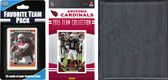 NFL Arizona Cardinals Licensed 2015 Score Team Set and Favorite Player Trading Card Pack Plus Storage Album