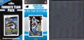 NFL Carolina Panthers Licensed 2015 Score Team Set and Favorite Player Trading Card Pack Plus Storage Album
