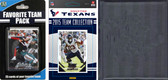 NFL Houston Texans Licensed 2015 Score Team Set and Favorite Player Trading Card Pack Plus Storage Album