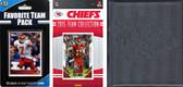 NFL Kansas City Chiefs Licensed 2015 Score Team Set and Favorite Player Trading Card Pack Plus Storage Album