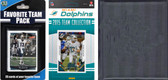 NFL Miami Dolphins Licensed 2015 Score Team Set and Favorite Player Trading Card Pack Plus Storage Album