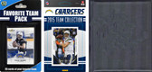NFL San Diego Chargers Licensed 2015 Score Team Set and Favorite Player Trading Card Pack Plus Storage Album