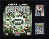 "NFL 12""x15"" Jets Greats Plaque"