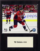 """NHL 12""""x15"""" TJ Oshie Washington Capitals Player Plaque"""
