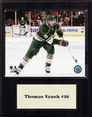 "NHL 12""x15"" Thomas Vanek Minnesota Wild Player Plaque"