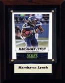 "NFL 4""x6"" Marshawn Lynch Seattle Seahawks Player Plaque"