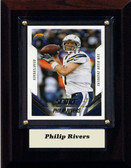 "NFL 4""x6"" Philip Rivers San Diego Chargers Player Plaque"