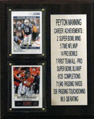 8x10 Payton Manning Two Teams Career Stat Plaque