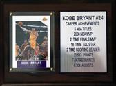 6 x 8  Kobe Bryant Career Stat Plaque